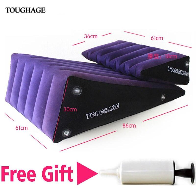 Toughage sexe meubles positions sexuelles gonflable canapé-lit de sexe magic triangle coussins g-spot wedge sexe oreillers jouet pour couples