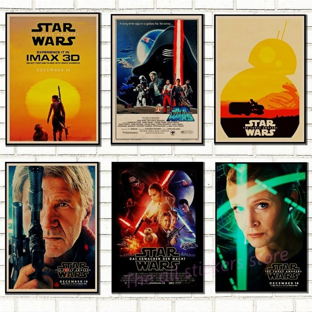 Vintage Star Wars плакат ретро Art Classic дом украшен фильм The Force Awakens Звездные войны крафт плакаты настенные наклейки/ 5007
