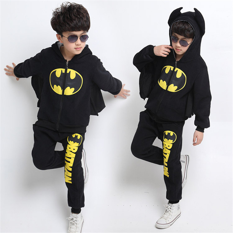 toddler boy clothes 2017 new brand children's clothing suits batman kids hoodies + pants children sports suit boys clothes set