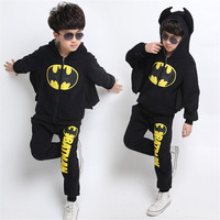 toddler boy clothes 2019 new brand children's clothing suits batman kids hoodies + pants children sports suit boys clothes set
