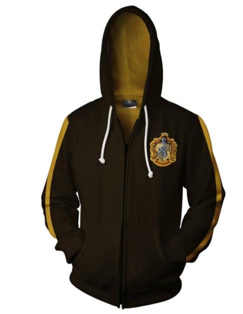 Hoodie With Pocket Casual Coat Movie Cosplay Costume Harri Potter Slytherin Hoodies