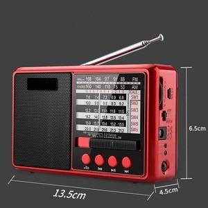 Image 3 - JINSERTA Portable FM/AM/SW Radio Multi Band HI FI Radio Speaker with Flashlight Support TF Card/U Disk Headphone Play