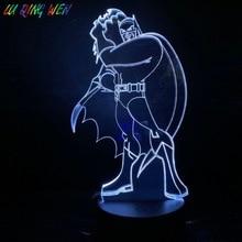 Dc Justice League batman Figure Table Lamp Bedside Cartoon Superhero Boys Child Kids Birthday Gifts Usb 3d Led Night Light