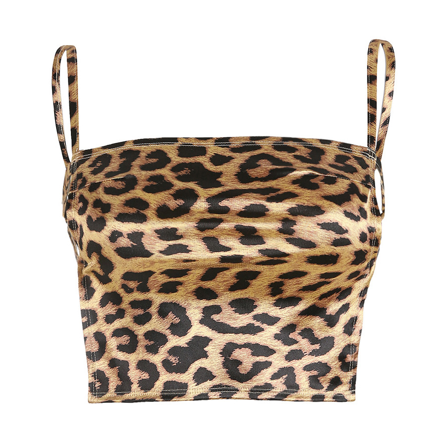 2019 Cami Top Female Sexy Tank Top Crop Summer Style Leopard Bandages Bikini Streetwear Womens Clothing Camisole Cropped Clothes in Tank Tops from Women 39 s Clothing