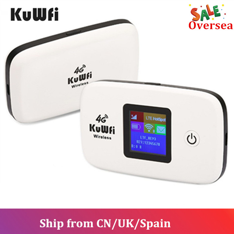 KuWFi 3 4G Router Wi-fi Sem Fio G/4G Routers LTE Desbloqueado Cartão Sim Global TDD/FDD router Wi-fi Com O Cartão SIM & TF Slot Para Cartão