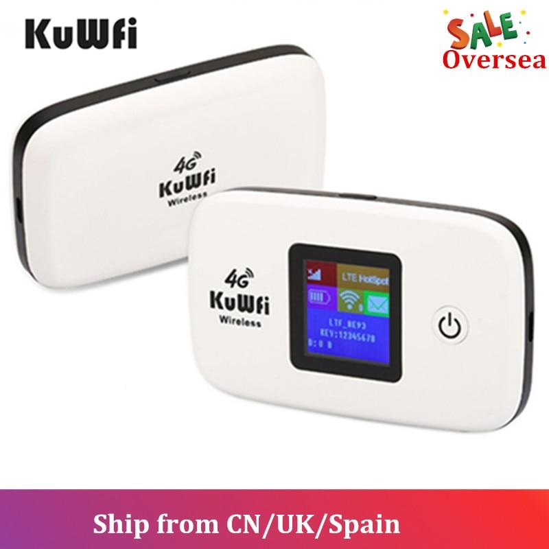 KuWFi 3 4G Router Wi-fi Sem Fio G/4G Routers LTE Desbloqueado Cartão Sim Global TDD/FDD router Wi-fi Com O Cartão SIM & TF Slot Para Cartão
