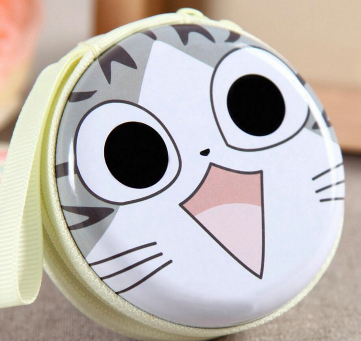 KVKY Creative Cute Cartoon Cat Coin Purses Character Mini Portable Bags Cases For Girl Student Coin Bag Money bag H75 pacgoth creative pvc waterproof cute carton candy color purse dessert donuts summer sweet hearts zipper coin purses money bag