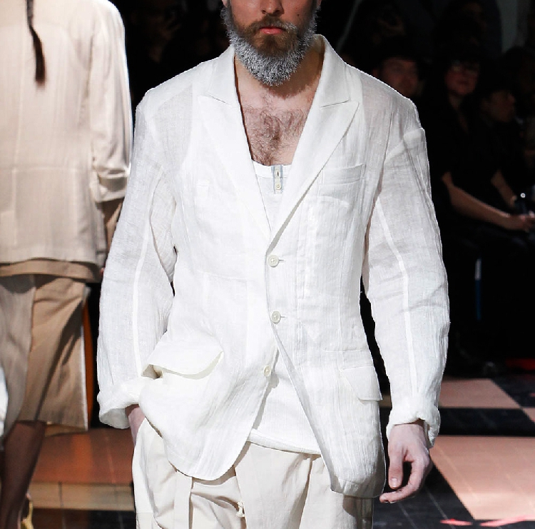 S-6XL!!  2018  An Original Cotton And Linen Suit, A Tunic Coat With A Tunic Coat And A Loose White Suit