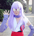 IMCOSER Free Shipping New Style Halloween Gin Tama Sarutobi Ayame Beauty Lavender Purple Long Straight Cosplay Wig