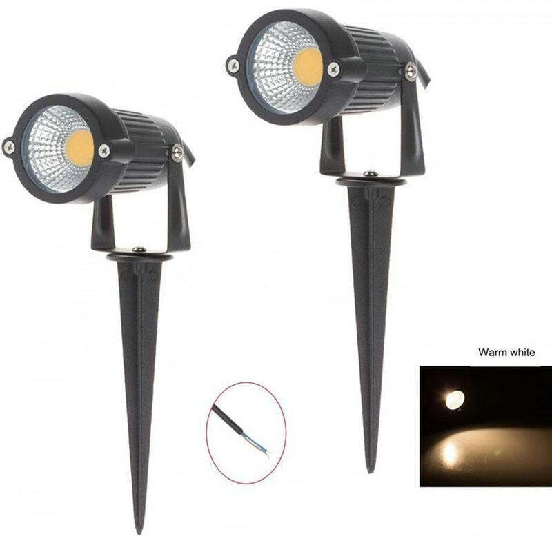 20pcs/lot Ip67 Outdoor Landscape Led Lawn Light Lamp 220v 110v 7w Cob Garden Spot Light Spike Energy Saving Ce & Rohs Led Lamps