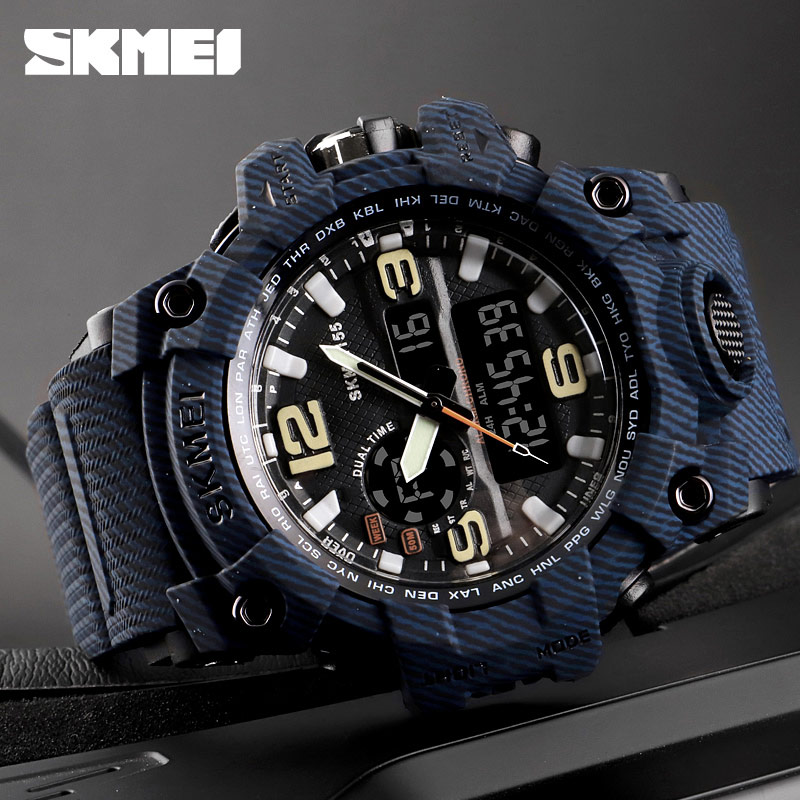 84beb2b38a1a SKMEI Top Brand Sport Watch Men Military Digital Watches 5Bar Waterproof  Dual Display Wristwatches Relogio Masculino 1155-in Quartz Watches from  Watches on ...