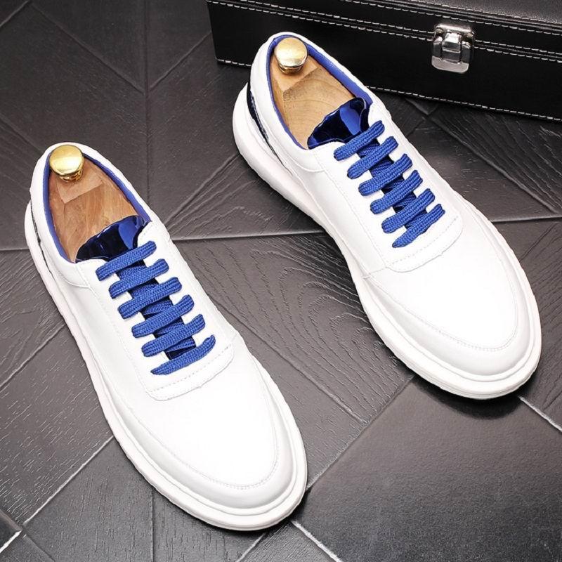 ERRFC Nieuwe Collectie Luxe Mannen Wit Leisure Schoenen Fashion Designer Lace Up Ronde Neus Trending Casual Comfort Hombre Zapatos 38  43-in Casual schoenen voor Mannen van Schoenen op  Groep 1