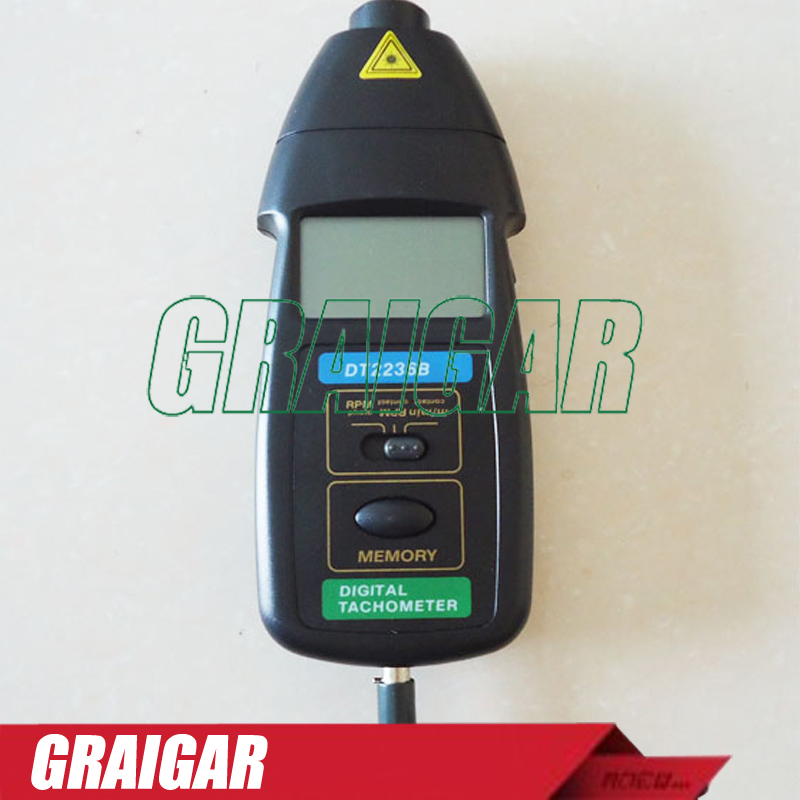 PHOTO CONTACT TACHOMETER DT2236B 2.5 to 99999RPM Photo Tach, 0.5 to 19999RPM Contact Tach dt 2856 photo touch type tachometer dt2856