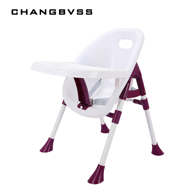 Comfortable Height 67cm Baby Feeding Chair 6-72 Months Infant Kids Stroller Baby Chair Durable Safty Brown Purple Highchair baby infant high chair seat cover mat waterproof feeding eating place mat