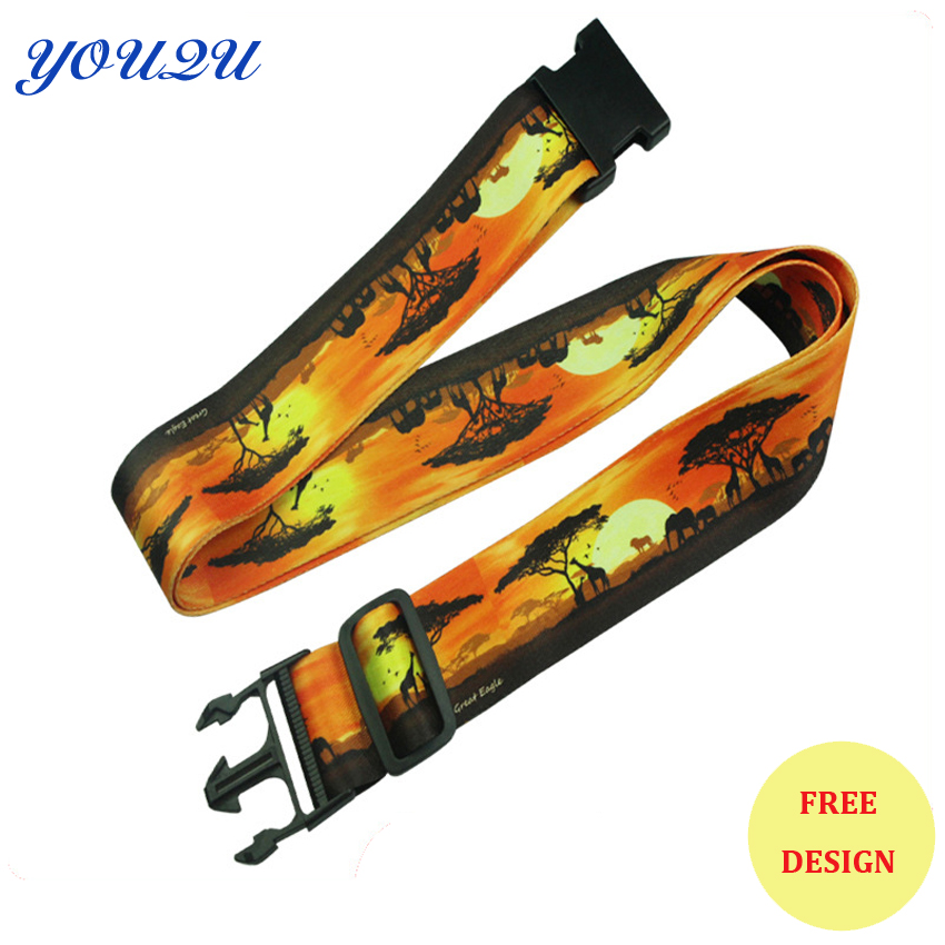 Custom Heat Transfer Luggage Belt Colorful Offset Printing Luggage Strap Lowest Price And Escrow Accepted