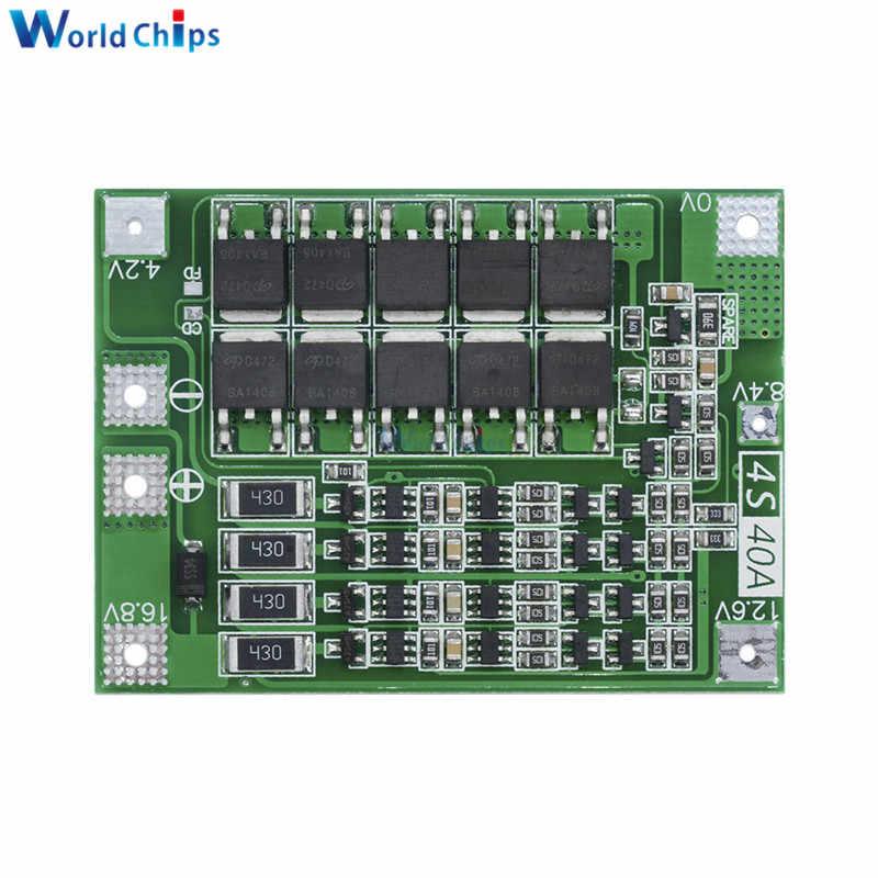 3 S 30A 60A 12.6 V 13.6 V Carregador De Bateria de Lítio Polímero de Iões de Lítio Protecção Bordo PCB BMS 3 Serial 12 V Para O Motor de Perfuração de Células Lipo