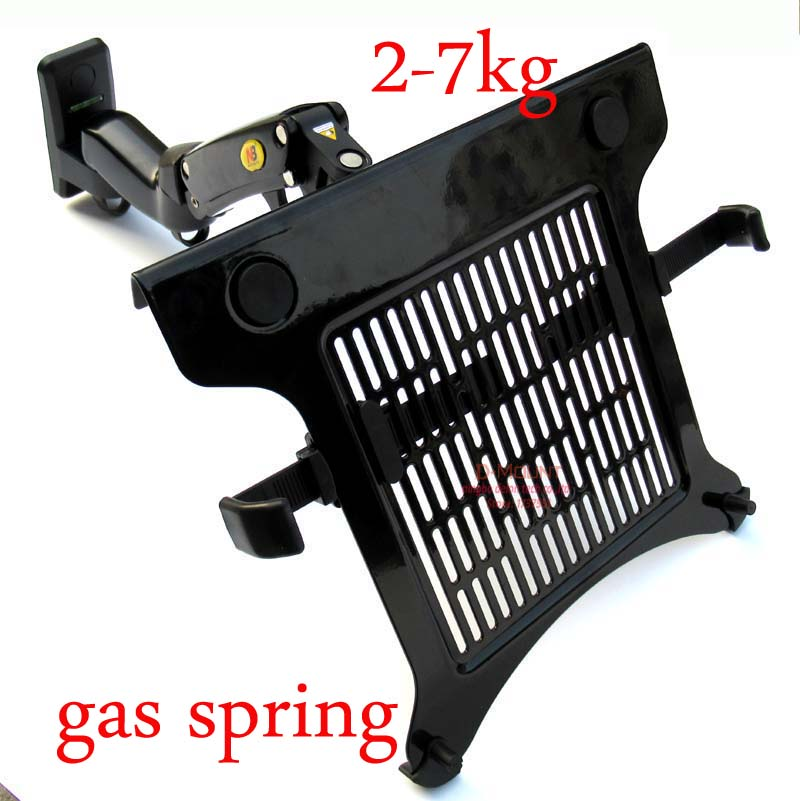 NB F15T 1 6kg 75x75 100x100 Gas spring dual arm laptop mount wall bracket notebook holder