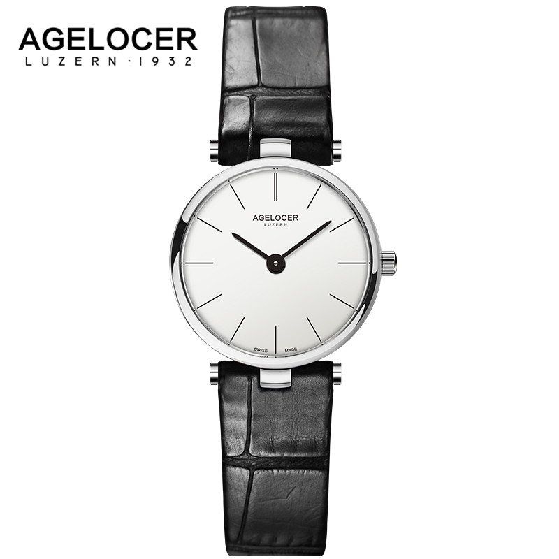 AGELOCER Luxury Brand Ladies Watch Fashion Leather Wrist Quartz Girl Watch for Women Lovers Dress Watches Clock Relogio Feminino nary brand lovers fashion wrist wristwatches men s leather strap watches ladies designer luxury casual watch for women