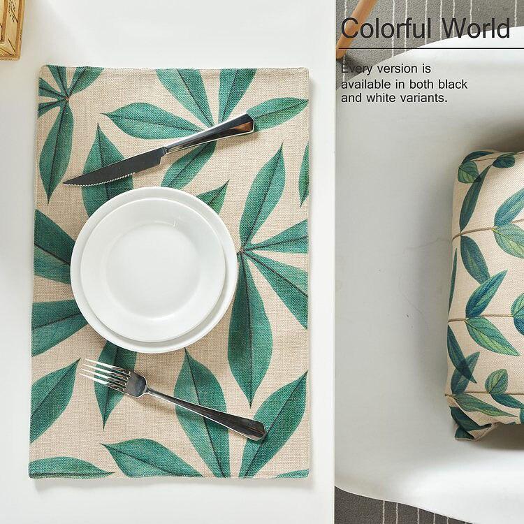Столовых моды Листья и цветок хлопка белье обеденный стол коврик дисковые колодки чаши подставки скатерти площадку скольжению pad