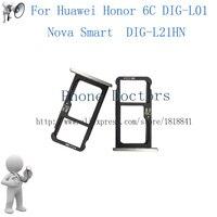 Для Huawei Honor 6C DIG-L01/Нова Smart DIG-L21HN лоток сим-карты Micro SD Держатель для карт Слот адаптер Запчасти sim-карты адаптер