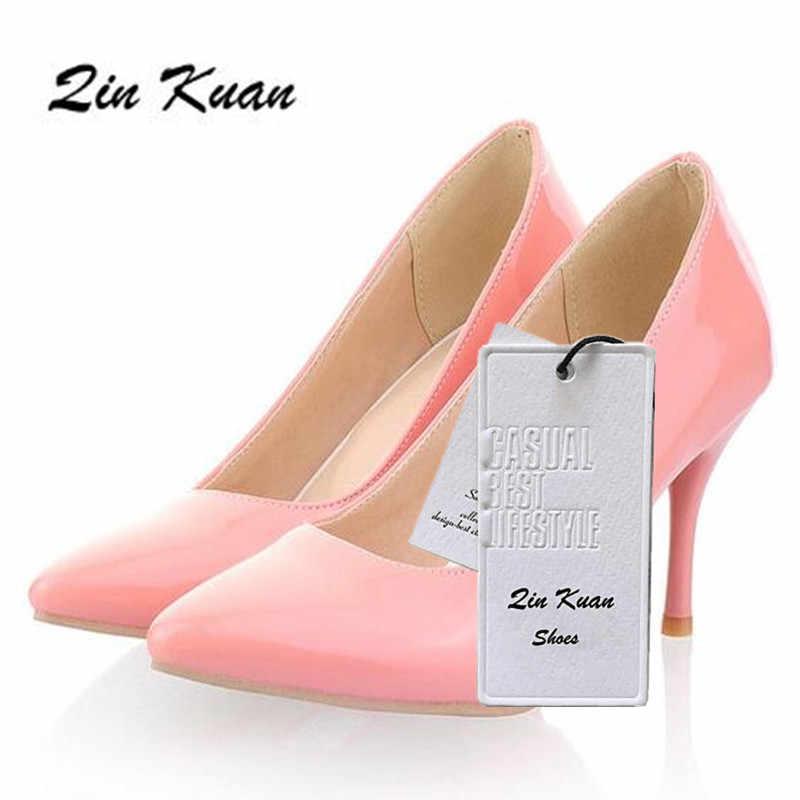 Plus Größe 34-47 Damen Mode Spitz Büro Hohe Ferse Schuhe Frauen Partei Pumpen Mode Hochzeits-absatz schuhe QKP0016B