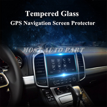 Tempered Glass GPS Navigation Screen Protector For Porsche Cayenne 2016-2017 Car accesories interior Car decoration image