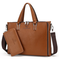 New Fashion Brand Men S Business Briefcase Leather Laptop Bag Casual Man Bag Shoulder Bag Classic