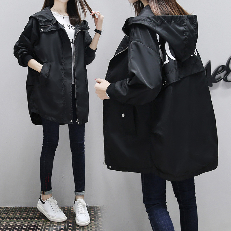 2020 NEW Spring Autumn Women's Trench Coats Plus Size Casual Loose BF Long Windbreaker Coats Female Outerwear N535
