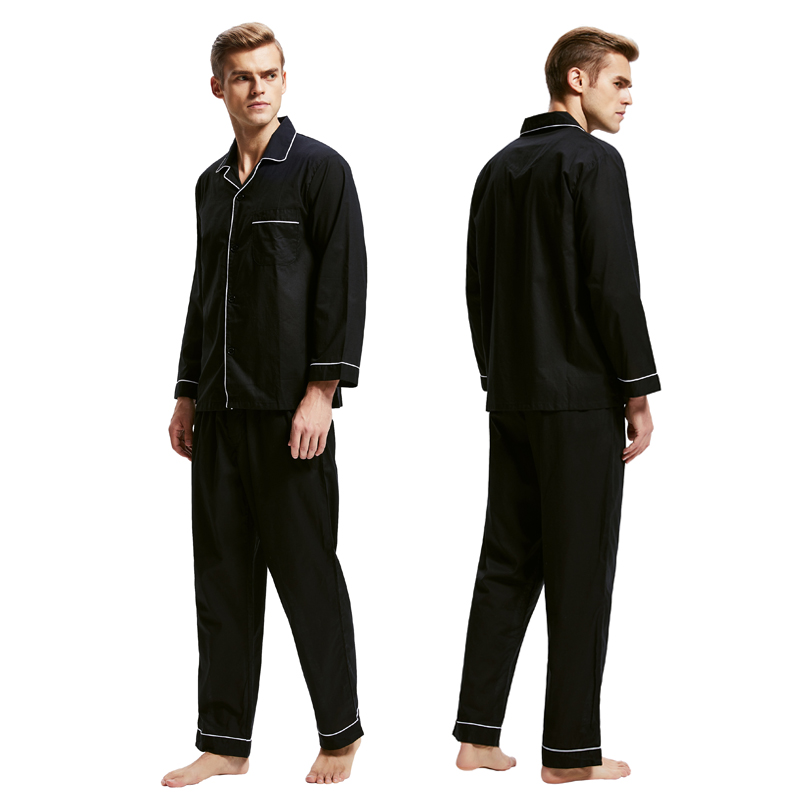 Men Sleepwear Nightwear Candice-Pajamas Soft-Pyjama-Set Male 100%Cotton Men's Casual title=