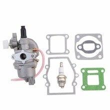 GOOFIT Carburetor with Gasket Spark Plug for 2 stroke 47cc 49cc Pocket Bike Group-113