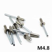 M4.8 GB12618 304 нержавеющая сталь круглый мушрун головка пробоя оправки слепой заклепки ногтей поп заклепки для машины