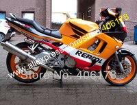מכירות חמות, ערכת חרטום abs עבור honda cbr 600 97 98 cbr600 1997 1998 f3 חלקי אופנוע מעטפת repsol (הזרקה)