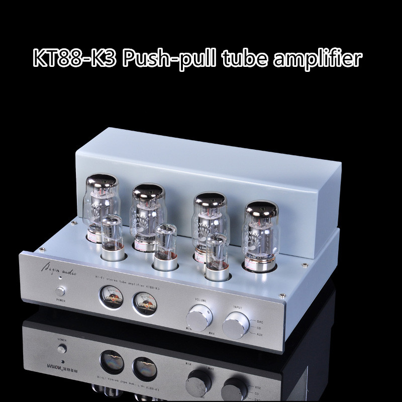 Music Hall KT88-K3 HIFI Stereo Push-pull Tube  Amplifier 6N8P Class A Large Power 45W*2 AMP music hall latest 12ax7 vacuum tube pre amplifier hifi stereo valve pre amp audio processor pure handmade