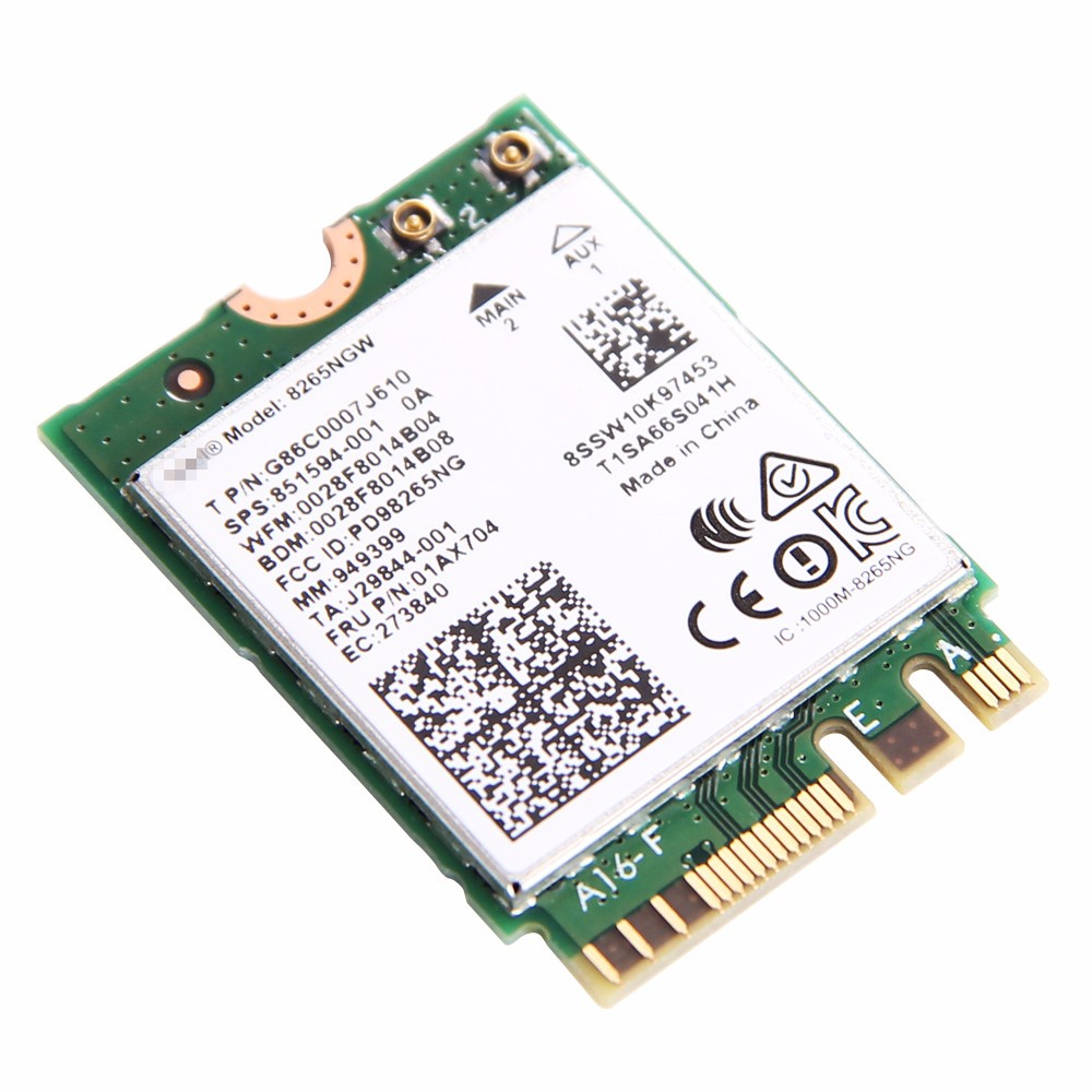 Intel Dual Band Wireless-AC 8265 NGFF 867Mbps WiFi Bluetooth4.2 802.11ac Card
