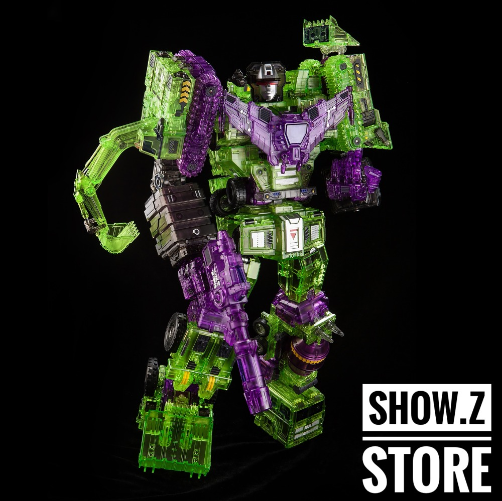[Show.Z Store][Pre Order]Toyworld TW-C07C Constructor Devastator Clear Version Full Set of 6 Figure Transformation Action Figure купить