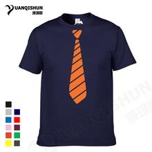 YUANQISHUN 2017 Hot Sale Fashion Casual Stripe Tie Man's T Shirts Streetwear Funny Print Clothing Hip-tope Mans T-Shirt Tops Tee