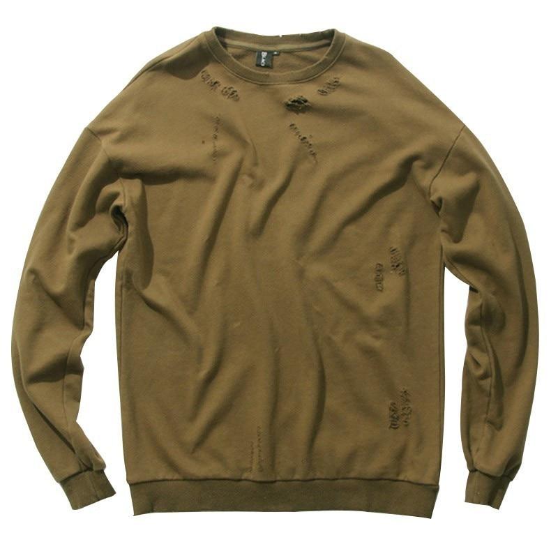 MORUANCLE Fashion Mens Hi-Street Ripped Hoodies Streetwear Hip Hop Sweatshirts Oversized Distressed Hoody Holes Brand Designer