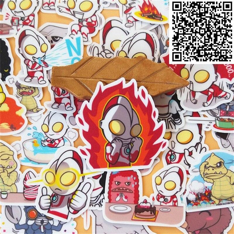 40 pçs super personagem hit monstro d adesivo para skate bagagem telefone estilo casa brinquedo dos desenhos animados adesivos à prova dwaterproof água