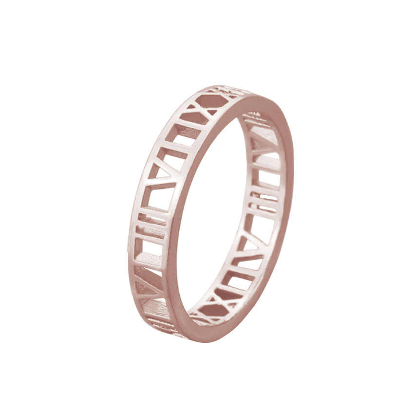 Roman Numerals Rings For Women Vintage Jewelry Bague Femme