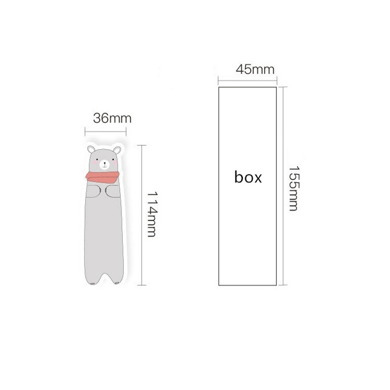 6 set Lot Funny forest life for books Cartoon cat bear fox book mark post card Kawaii Stationery School supplies FC838 in Bookmark from Office School Supplies