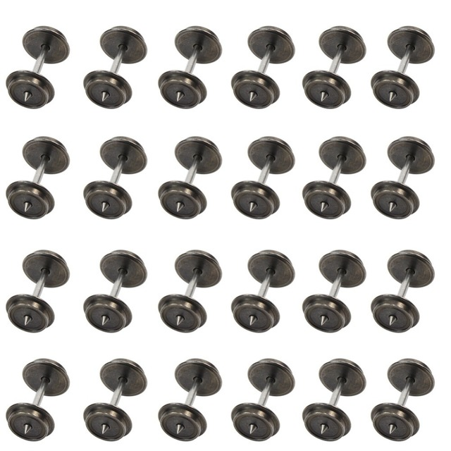 Evemodel 24 PCS 36'' Metal Wheels for Model Train 1:87 HO Scale New AC Wheel set HP0387 model building kit DIY accessories