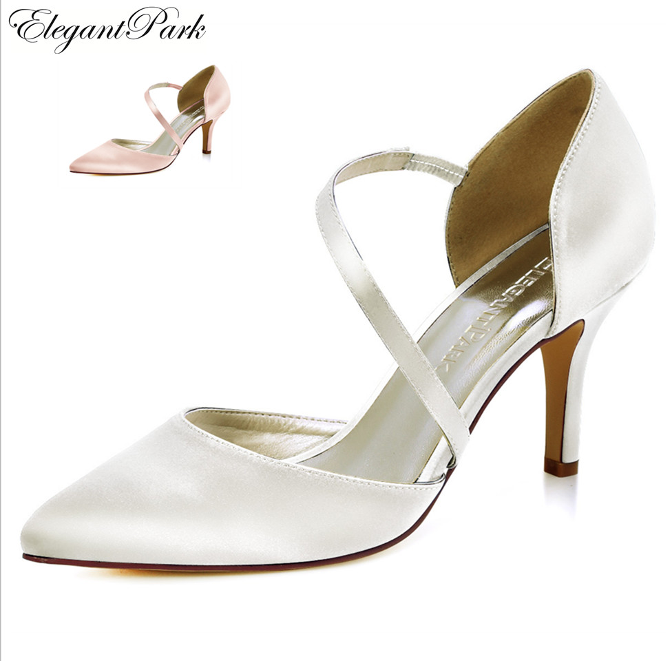 HC1711 Women's shoes wedding bridal high heel Ivory blush pink pointy strap satin lady female bridesmaids evening party pumps auto car usb sd aux adapter audio interface mp3 converter for lexus gx 470 2004 2009 fits select oem radios