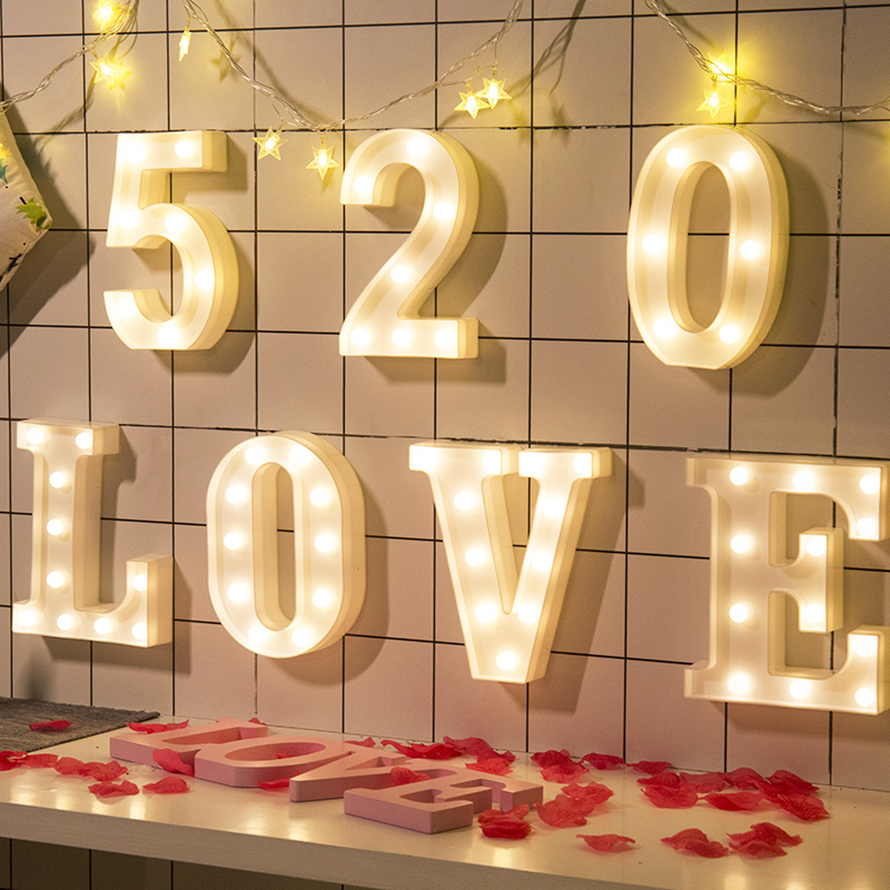 Luminaria Novelty 3D Marquee LOVE Light Table LED Lamp Love Childrens Night Light Star Moon Cloud Heart Deer Home Decor