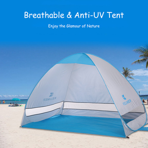 Image 1 - 200*120*130cm Outdoor Automatic Instant Pop up Portable Beach Tent Anti UV Shelter Camping Fishing Hiking Picnic Outdoor Camping