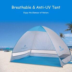 Image 1 - 200*120*130cm ao ar livre automático instantâneo pop up barraca de praia portátil anti uv abrigo acampamento pesca caminhadas piquenique acampamento ao ar livre
