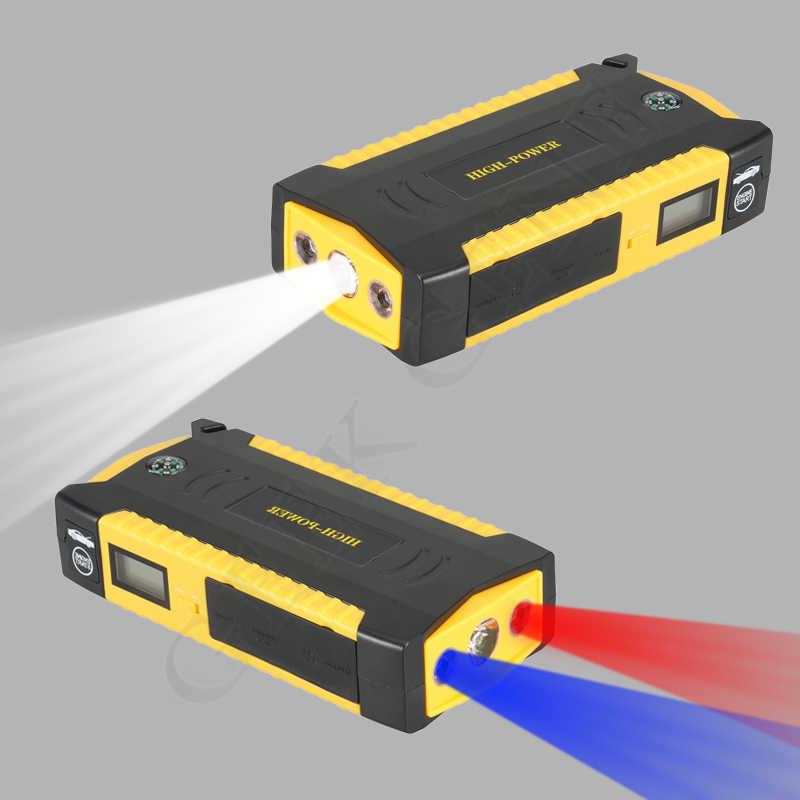 Dispositivo de Partida de emergência 24 V 12 V Carro A Gasolina e Diesel Booster Carregador de Alta Capacidade Banco de Potência Carro Saltar de Arranque Bússola DIODO EMISSOR de luz