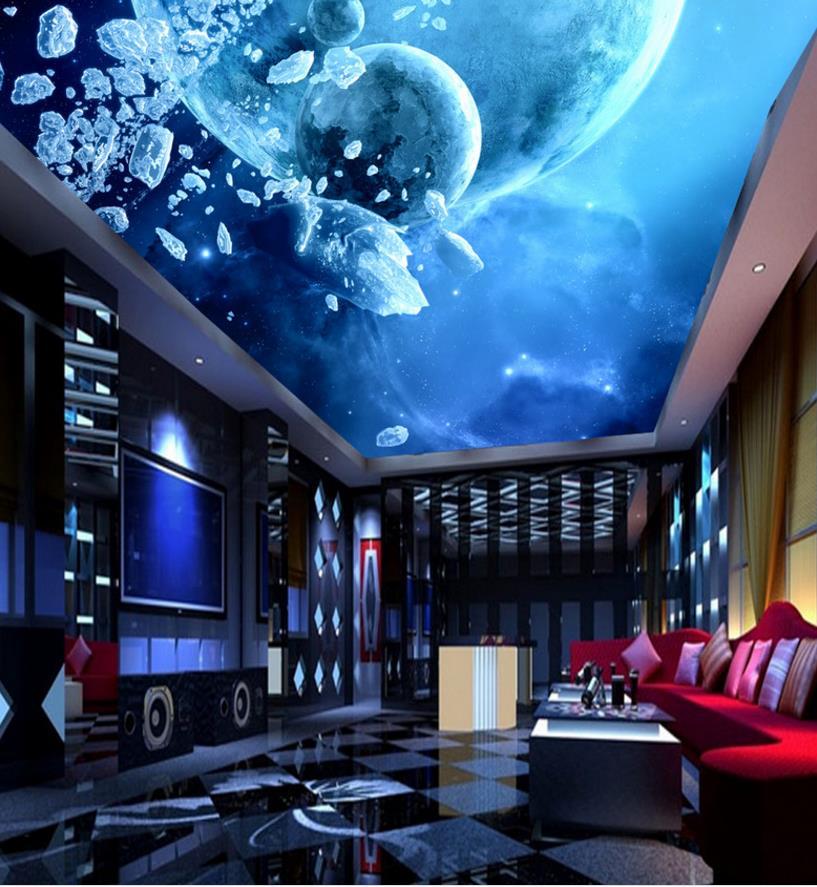 3d Wall Ceiling Wallpaper Home Decor Star Galaxy Photo