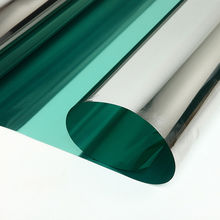 50x100cm Green Silver One Way Solar Tint Car Window Glass Film Sun Shade Home Sticker Reflective Mirror Privacy