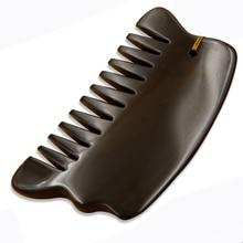 Crazy  promotion 5A grade Original Si Bin Bian stone massage guasha kit beauty face comb 105x60x7mm 100% original