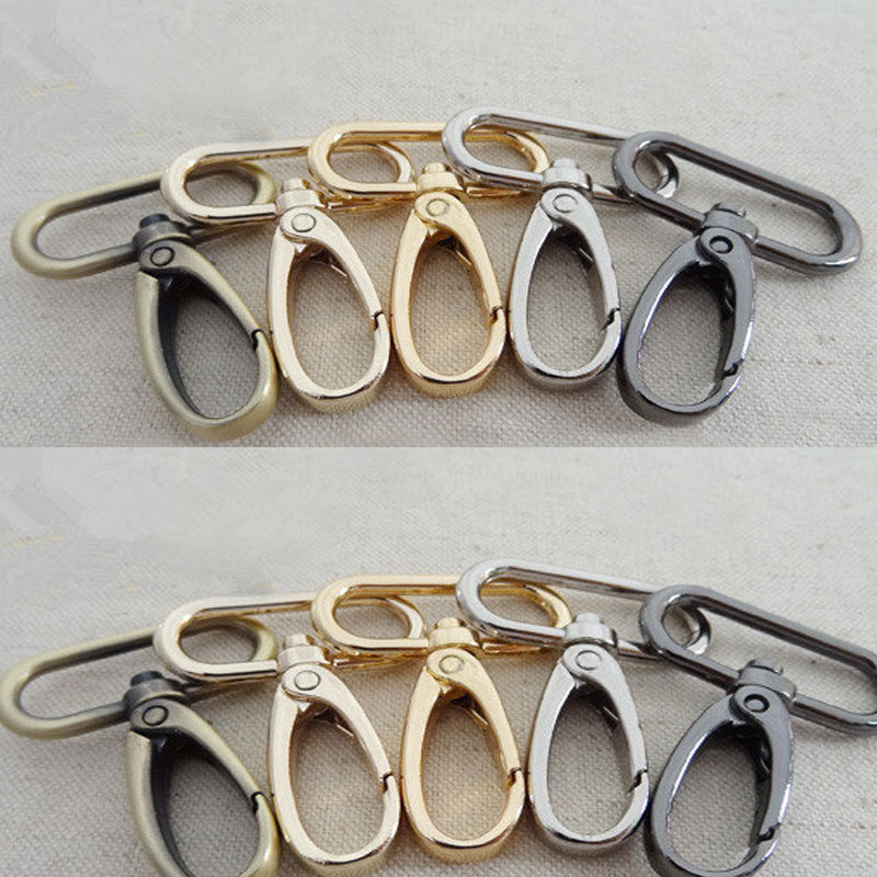 50pcs swivel lobster claw clasp,Swivel Snap,Purse hook,strap hoop,handbag snap (50x38mm)